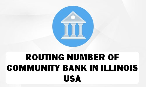 Routing Number of COMMUNITY BANK ILLINOIS