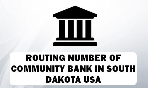 Routing Number of COMMUNITY BANK SOUTH DAKOTA