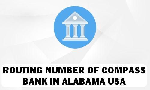 Routing Number of COMPASS BANK ALABAMA