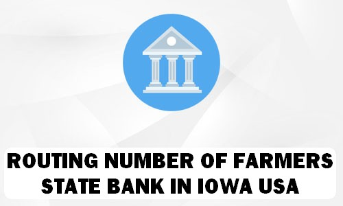 Routing Number of FARMERS STATE BANK IOWA