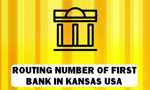 Routing Number of FIRST BANK KANSAS
