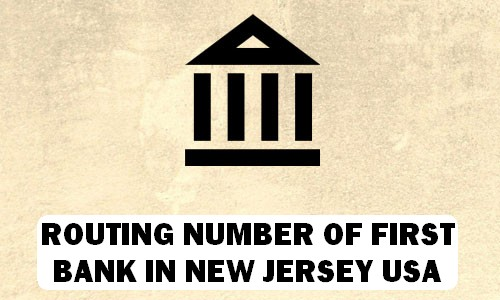 Routing Number of FIRST BANK NEW JERSEY