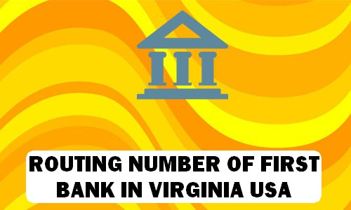 Routing Number of FIRST BANK VIRGINIA