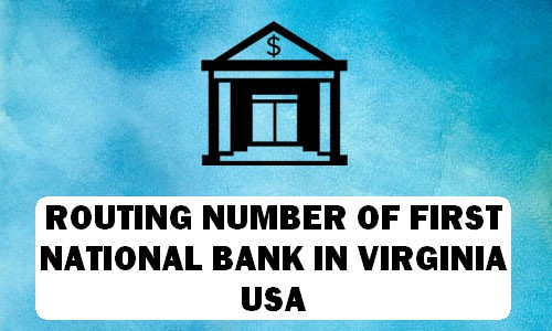 Routing Number of FIRST NATIONAL BANK VIRGINIA