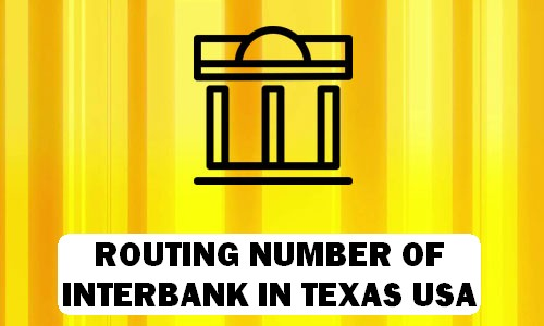 Routing Number of INTERBANK TEXAS