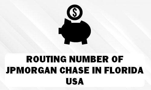 Routing Number of JPMORGAN CHASE FLORIDA