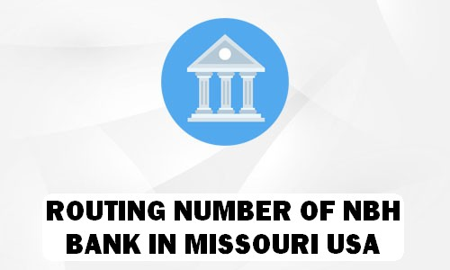Routing Number of NBH BANK MISSOURI