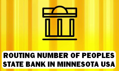 Routing Number of PEOPLES STATE BANK MINNESOTA