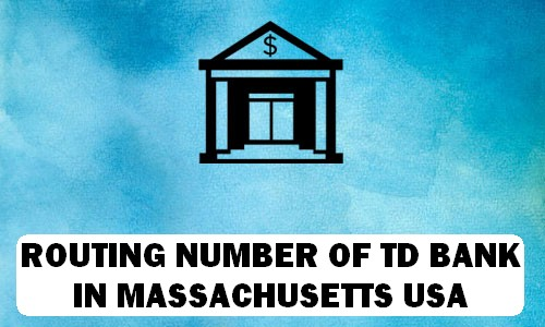 Routing Number of TD BANK MASSACHUSETTS