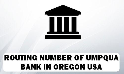 Routing Number of UMPQUA BANK OREGON