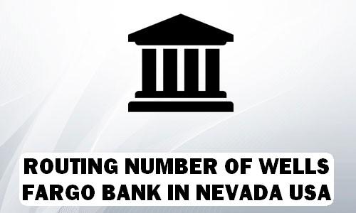 Routing Number of WELLS FARGO BANK NEVADA