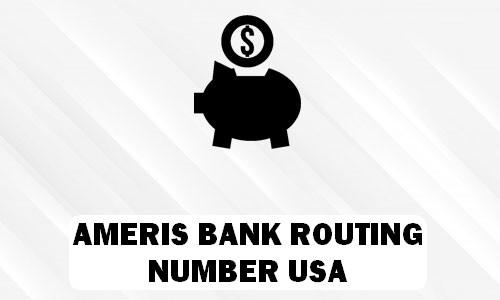 Ameris Bank Routing Number