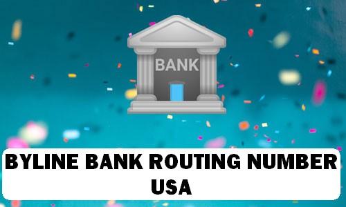 Byline Bank Routing Number