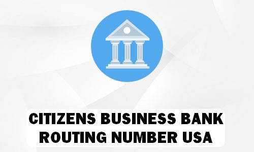 Citizens Business Bank Routing Number