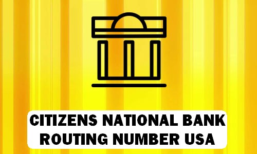 Citizens National Bank Routing Number