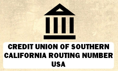 Credit Union of Southern California Routing Number
