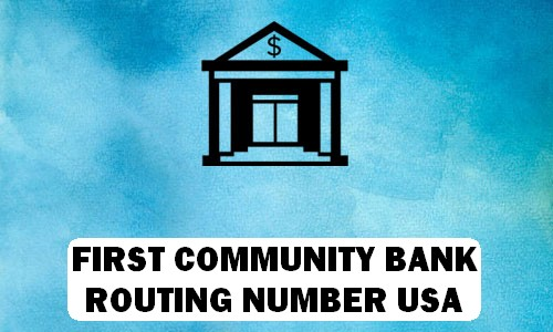 First Community Routing Number