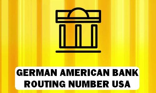 German American Routing Number