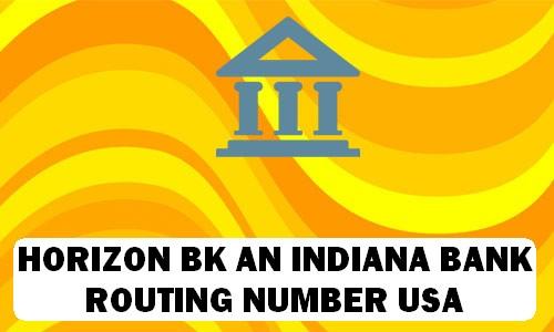 Horizon BK Routing Number