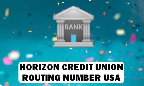 Horizon Bank Routing Number