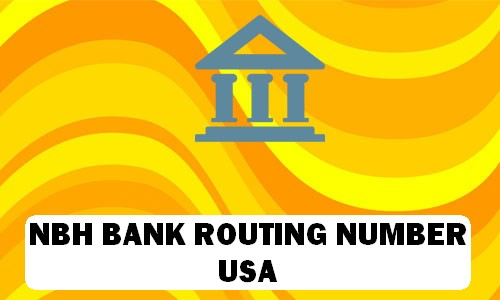 NBH Bank Routing Number