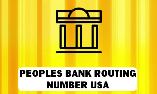 Peoples Bank Routing Number