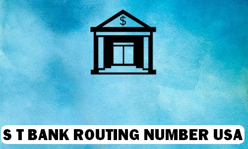 ST Bank Routing Number