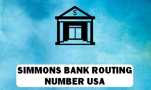 Simmons Routing Number