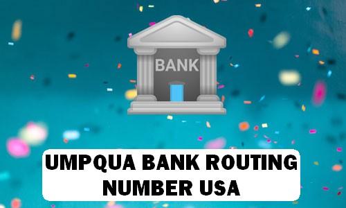 Umpqua Routing Number