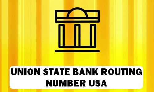 Union State Routing Number
