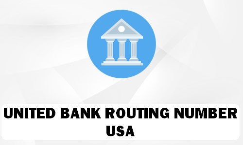 UNITED BANK Routing Number
