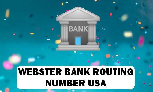 Webster Routing Number
