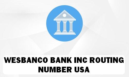 Wesbanco Routing Number